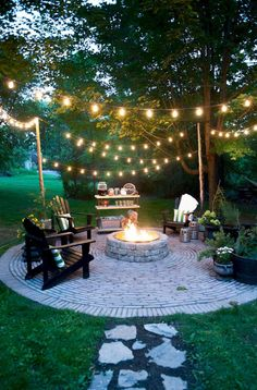 Diy fire pit ideas and backyard seating area (3)