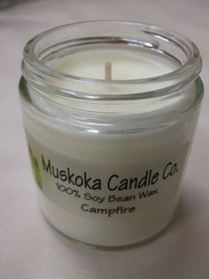 Too wet or dry for a campfire? This may be the next best thing! Soy candles are clean burning, and this really smells like a campfire. Soy Candles, Candle Jars, Wax, Artisan, Unique, Craftsman, Candle Mason Jars, Laundry