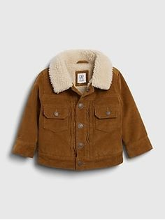 Baby Denim Anorak Jacket | Gap Kids Denim Jacket, Sherpa Denim Jacket, Anorak Jacket, Sherpa Lined, Baby Kids Clothes, Comfortable Outfits, Canada Goose Jackets, Military Jacket, Bebe