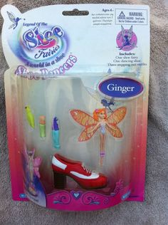 Shoe Fairies Blue Box Ginger New On Card Great Find