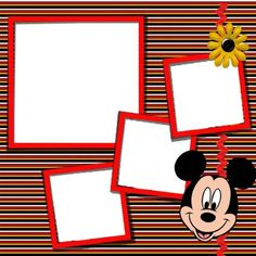 mickey mouse scrapbook | Mickey Mouse Digital Scrapbook KIT