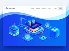 Block chain web(illustration) design designed by Yolanda ju for Hiwow. Connect with them on Dribbble; Web Design, Game Ui Design, Icon Design, Isometric Drawing, Isometric Design, Web Layout, Layout Design, Event Website, User Interface Design