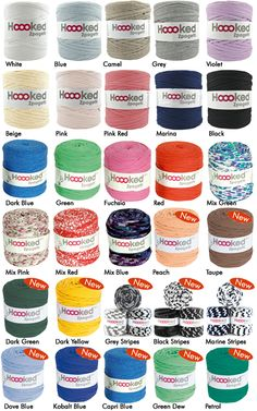 http://www.aliexpress.com/store/1687168 New colours autumn 14 | Hoooked Zpagetti Yarns