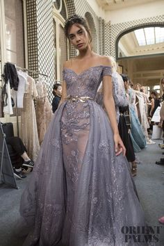 Zuhair Murad Fall 2017 Couture Fashion Show Backstage Evening Dresses, Prom Dresses, Formal Dresses, Wedding Dresses, Bridal Gowns, Robes Glamour, Style Haute Couture, Elie Saab Couture, Valentino Couture