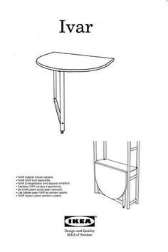 IKEA IVAR Drop Leaf Table Instructions by Tigratrus