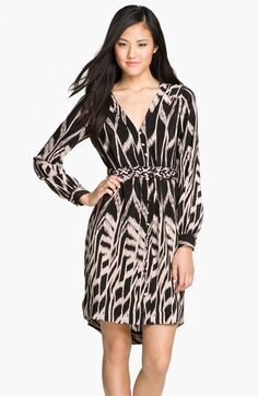 Presley Skye Print High/Low Silk Shirtdress available at #Nordstrom