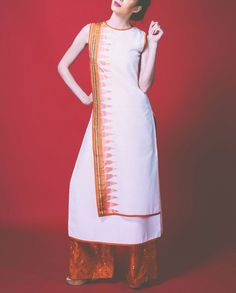 White Tunic with Rust Orange Palazzo Pants- Buy Shruti Sancheti - Lakme '14 ,Shruti Sancheti - Lakme '14 Online | Exclusively.in