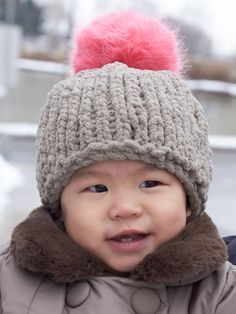 Big Stitch Baby Hat   Yarn   Free Knitting Patterns   Crochet Patterns   Yarnspirations