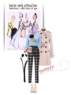 """""""sweeet"""" by tvesbrink ❤ liked on Polyvore featuring Burberry, Maison Margiela, Tory Burch, Dolce&Gabbana, Acne Studios, women's clothing, women, female, woman and misses"""