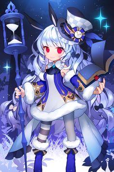 처음 시작할 때 선택할 수 있는 캐릭터입니다. 마법사 메르니와 궁수 제니아 작업했어요~