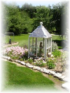 Forever Decorating!: The making of my Garden Cupola! - upcycled from old windows, this is beautiful!
