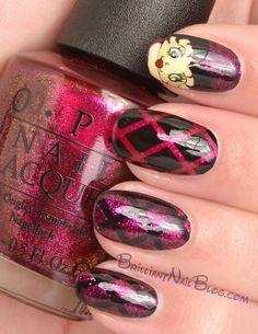 betty boop nail art 2-2 by BrilliantNail,