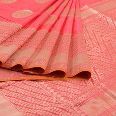 WeaverStory Handwoven Banarasi Kadhwa Katan Silk Saree 10007139 - creative…
