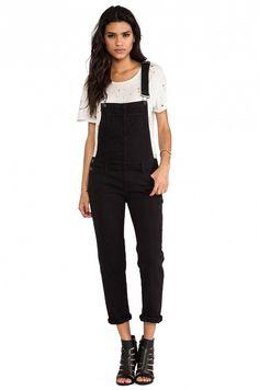 7 Ways to Wear Black Overalls via @WhoWhatWear
