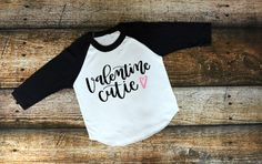 Velentine Cutie, Love shirt, Valentines Day Shirts, Cupid, Valentines Day, American Apparel, Raglan, Boy, Girl, Baby, Unisex clothing by RagTine on Etsy