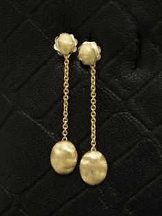 Marco Bicego 18kt Yellow Gold Siviglia Satin Nugget Drop Earrings Available At London Jewelers