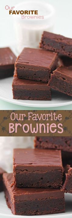 Literally EVERYONE goes CRAZY for these brownies. I have been told dozens of times that they are the best anyone has EVER HAD! That's crazy! I am asked for the recipe all the time, so here it is! Y (Best Brownies Recipe) Chewy Brownies, Best Brownies, Frosted Brownies, Just Desserts, Delicious Desserts, Yummy Food, Easy Recipes For Desserts, The Chew Recipes, Best Dessert Recipes