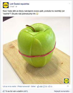 Lidl. Life hack. PRaktický tip, který ocení cílovka, co dělá dětem svačiny do školy. Good Food, Fun Food, Lidl, Apple, Fruit, Children, Food Ideas, Apple Fruit, Young Children