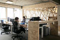 Wooden open plan office #openplanoffice Cubicles.com
