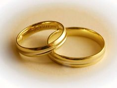 Two Wedding Rings. The lower part of the rings is in focus the upper is soft , Second Weddings, Floral Illustrations, Gold Rings, Royalty Free Stock Photos, Bangles, Wedding Rings, Engagement Rings, Jewelry, Wine Labels