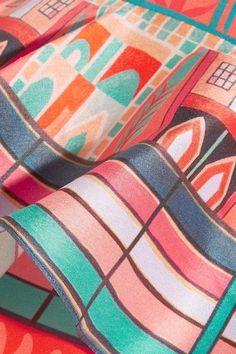 Temperley London - Nymph Printed Silk Peplum Midi Skirt - Red - UK