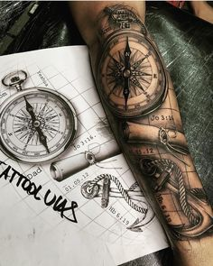 Sexy Tattoos For Women With Meaning - diy best tattoo ideas Map Tattoos, Best Sleeve Tattoos, Tattoo Sleeve Designs, Tattoo Designs Men, Body Art Tattoos, Cool Tattoos, Tattoo Fonts, Tattoo Ink, Octopus Tattoos