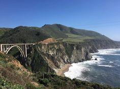 Going places on Highway 1 via one of the most photographed bridges in California, the Bixby Creek Bridge from 1932, on the Big Sur coast in Monterey county. Stunning scenery. #tripdownmemorylane #bigsur #visitcalifornia #ontheroad #highway1 #roadtrip #bixbycreekbridge  #presstrip #traveller #ilovemyjob #myphoto #montereylocals - posted by Elsebeth Mouritzen https://www.instagram.com/elsebeth_mouritzen. See more of Big Sur at http://bigsurlocals.com