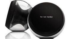 Meet the new face of cutting-edge sound: the Nova Wireless Stereo Speaker System from Harman Kardon. Designed for beauty and performance, the Harman Wireless Stereo Speakers, Home Theater Speaker System, Techno Gadgets, Nova, Harman Kardon, Modern Tech, Tablets, Digital Trends, Gadget Gifts