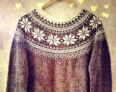 Knitting Pattern - Hermoso suéter noruego - Descarga digital instantánea - PDF - Patrón - Noruega