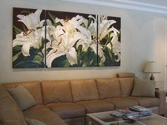 large floral paintings and prints available for sale and commission