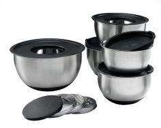 4. Sagler Stainless Steel Mixing Bowls – Set of 5