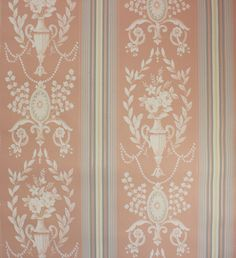 1940's Vintage Wallpaper Victorian White Roses by RosiesWallpaper