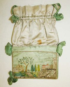 Reticule (image 1) | French | 1795-1800 | silk | Metropolitan Museum of Art | Accession Number: 1980.445.11