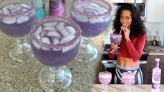 The Purple Alluring Lullaby by The Tipsy Bartender 2 oz. (60ml) Viniq 1/2 oz. (15ml) Hpnotiq 1/2 oz. (15ml) Grape Vodka Top with Lemon Lime Soda