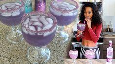 The Purple Alluring Lullaby Cocktail - Tipsy Bartender - Hyypnotiq,grape vodka,viniq Viniq Drinks, Non Alcoholic Drinks, Cocktails, Grape Vodka, Tipsy Bartender, Homemade Donuts, Drink Specials, Alcohol Recipes, Mixed Drinks