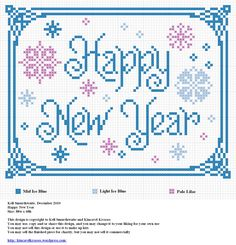 cross stitch happy new year - Google Search