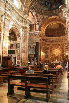 I'm very fond of history and art, these are beautiful combined in the little church Santa Maria Della Vittoria in Rome.