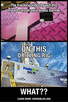 Enviroblog: Drilling Rigs: Not So Pretty In Pink #pinkwashing