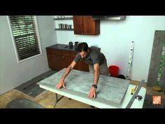 Brown Paper Floor: Do-It-Yourself Alternative To Hard Wood Floors - YouTube