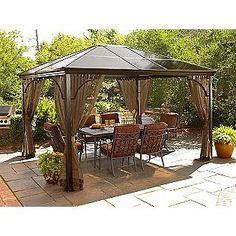 ordering this hard-top gazebo for the patio today. can't wait!
