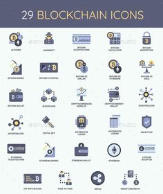 Cryptocurrency – Bitcoin & Blockchain Icon Set – Envato Market Source by best_design_resources Investing In Cryptocurrency, Blockchain Cryptocurrency, Cryptocurrency Trading, Bitcoin Cryptocurrency, Icon Design, Web Design, Graphic Design, Design Art, Bitcoin Wallet
