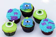 monsters university cupcakes | Monsters University Cupcakes by Kelly.Garsha on... - It was all ...