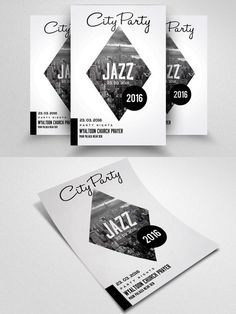 Jazz Flyer & Poster Template. Wedding Fonts. $6.00