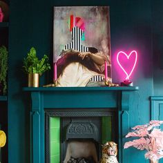Before After Amelias Victorian Terrace Colourful Maximalist Living Room Audenza Eclectic living room inspiration Teal walls paired with colourful art and quirky access. Colourful Living Room, Eclectic Living Room, Eclectic Decor, Living Room Decor, Bedroom Decor, Colourful Art, Quirky Living Room Ideas, Living Room Wall Colours, Punk Bedroom