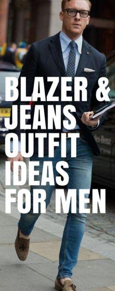 Blazer & Jeans OUTFIT IDEAS FOR MEN #mensfashion #fallfashion #streetstyle