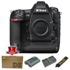 BRAND NEW Nikon D5 Digital SLR Camera Body 20.8 MP (Dual CF, Slots, Black)