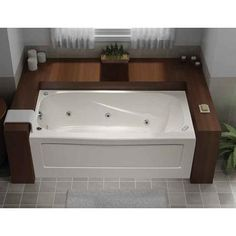 MAAX Antigua 6 ft. Whirlpool Tub with 10 Microjets and Polished ...