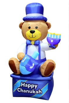 Mensch On A Bench Airblown Inflatable Outdoor Decoration Hanukkah Holidays NEW