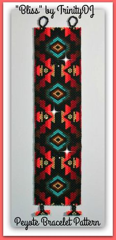 BLISS - is an ODD COUNT PEYOTE STITCH CUFF/BRACELET pattern that has been designed for the use of Delica beads #11.