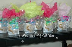 Baking Birthday Party, goodie bags
